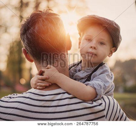 Fine art image of an little boy on countryside