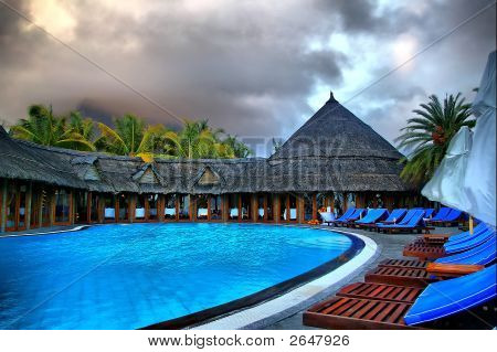 Large Tropical Outdoor Swimming Pool