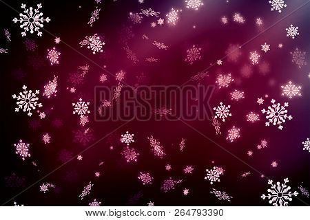 New Year. Christmas.  Purple Abstract Background, Vignette, Snowflakes. Copy Space.purple Abstract C