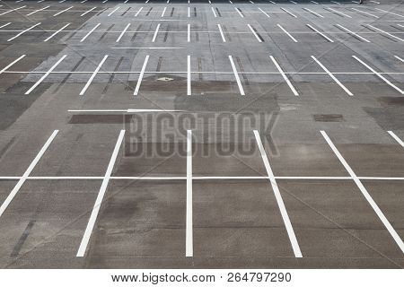 Parking lot with empty places