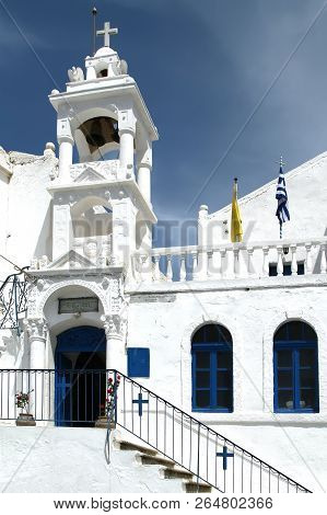White Church On The Island Of Nisyros. Greece