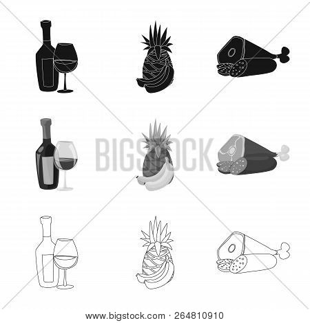 Vector Design Of Food And Drink Icon. Collection Of Food And Store Vector Icon For Stock.
