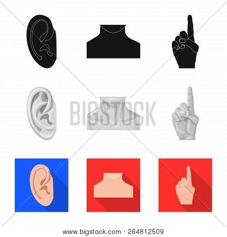 Vector Illustration Of Human And Part Logo. Set Of Human And Woman Vector Icon For Stock.