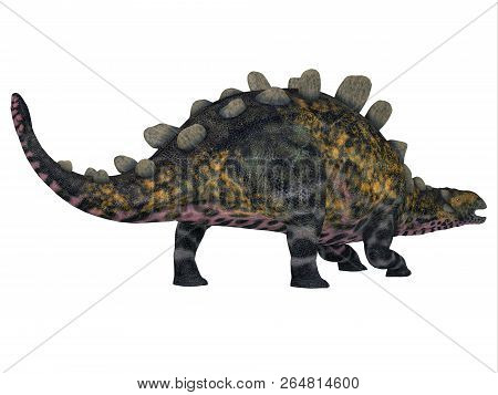 Crichtonsaurus Dinosaur Tail 3d Illustration - Crichtonsaurus Was An Ankylosaur Armored Dinosaur Tha