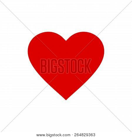 Heart Icon Isolated On White Background. Heart Icon Modern Symbol For Graphic And Web Design. Heart