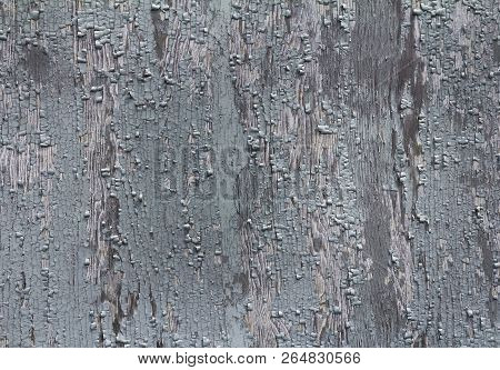 Old Wooden Texture Background With Peeling Paint