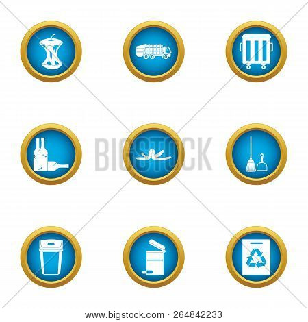 Garb Icons Set. Flat Set Of 9 Garb Vector Icons For Web Isolated On White Background