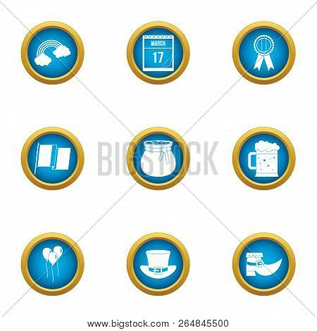 Speculate Money Icons Set. Flat Set Of 9 Speculate Money Vector Icons For Web Isolated On White Back