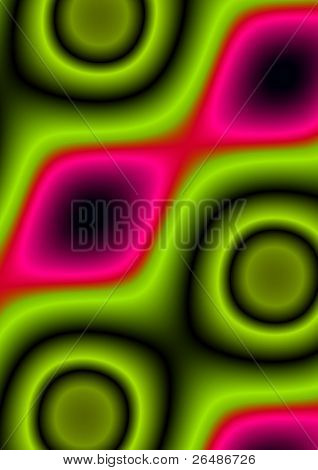 Abstract illustration of colorful tropical pattern