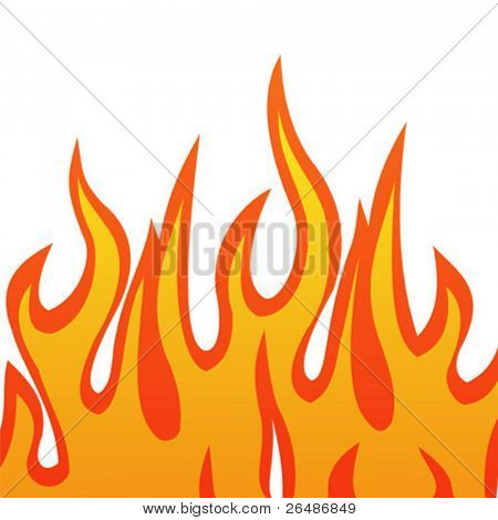 Vector illustration of a fire flames
