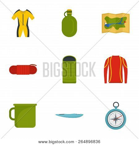 Tourism Icon Set. Flat Set Of 9 Tourism Vector Icons For Web Design