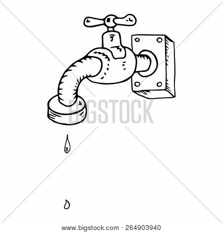 Water Tap Drops Icon Vector Photo Free Trial