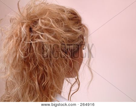 Blonde Girl With Perfect Hair Style