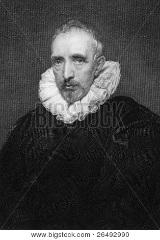 Jan Gaspar Gevartius (1593-1666). Engraved by J.Rogers and published in the National Portrait Gallery, United Kingdom, 1844. poster