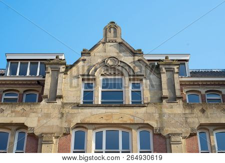 Dutch Architecture Rooftop Building With A Jewish Star In The Center Of The Building