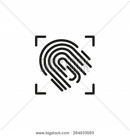 Fingerprint recognition line icon. Fingerprint scanner, biometric verification, identification. Biometrics concept. Vector illustration can be used for topics like technology, investigation, security poster