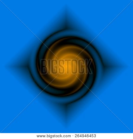 Motion tunnel with light. 3D rendering