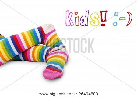 Colorful Kid's Feet