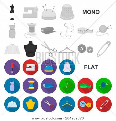 Book In The Binding Flat Icons In Set Collection For Design. Printed Products Vector Symbol Stock We