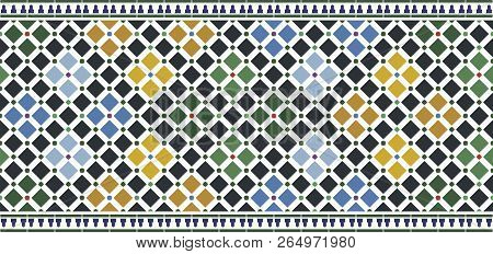 Color Wall Tiles Alhambra Design, Arabic Style