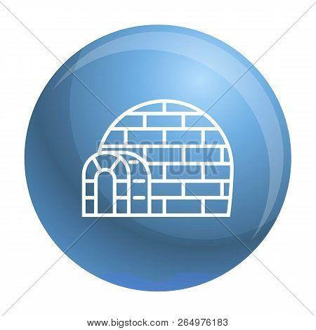 Eskimo Igloo Icon. Outline Eskimo Igloo Vector Icon For Web Design Isolated On White Background