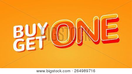 Buy 1 Get 1 Free Sale Poster. Banner Design Template For Marketing. Special Offer Promotion Or Retai