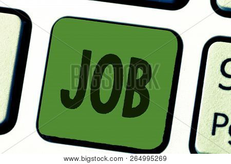 Conceptual Hand Writing Showing Job. Business Photo Text A Paid Position Of Regular Employment Occas