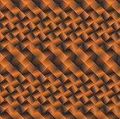 cubic pattern of black and orange with 3d effect poster