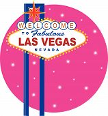 Vector illustration of the famous Las Vegas sign poster
