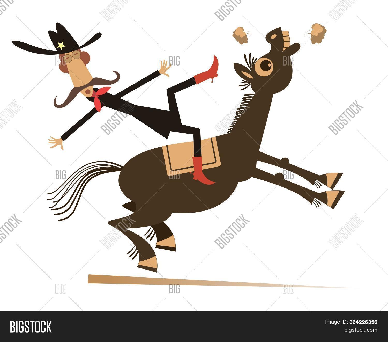 Cartoon Rider Falls Image Photo Free Trial Bigstock