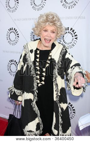 LOS ANGELES - JUN 7:  Phyllis Diller arrivimg at the Debbie Reynolds Hollywood Memorabilia Collection Auction & Auction Preview at Paley Center For Media on June 7, 2011 in Beverly Hills, CA