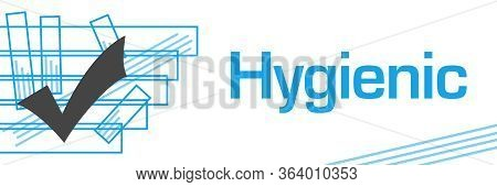 Hygienic Text Written Over Green Blue Background.