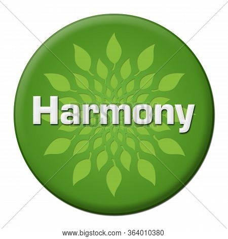 Harmony Text Written Over Green Background With Leaves.