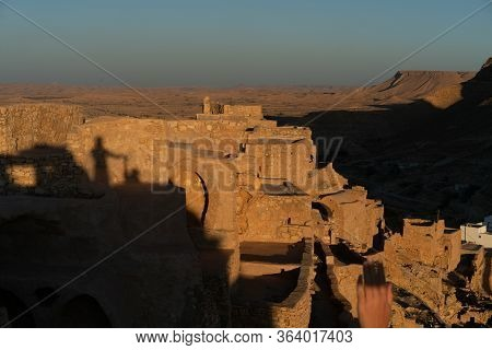 Chenini is a ruined Berber village in the Tataouine district in southern Tunisia Located on a hillto