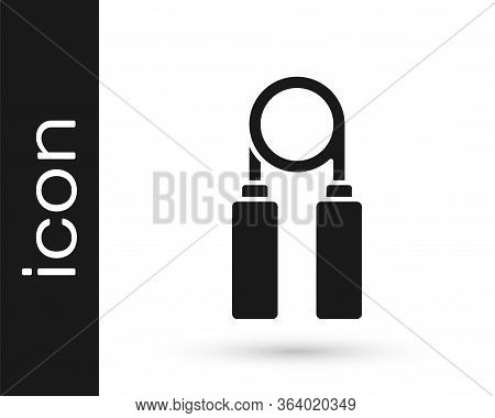 Grey Sport Expander Icon Isolated On White Background. Sport Equipment. Vector Illustration