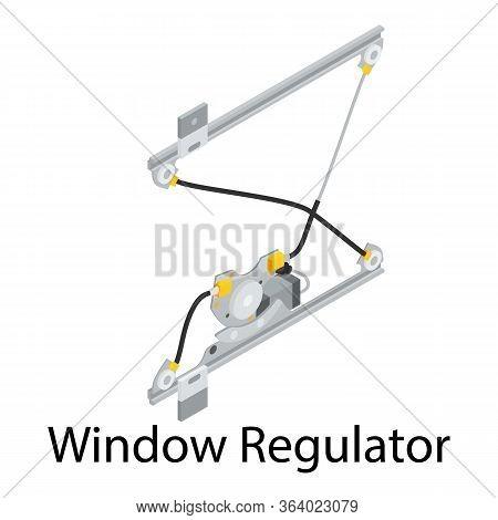 Window Regulator Icon. Isometric Of Window Regulator Vector Icon For Web Design Isolated On White Ba