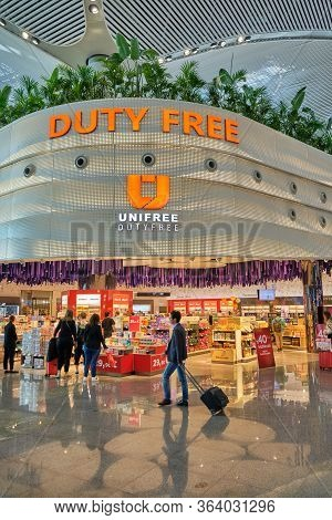 Duty Free Shops At Istanbul Airport's International Departures Terminal, Istanbul Havalimani, Turkey