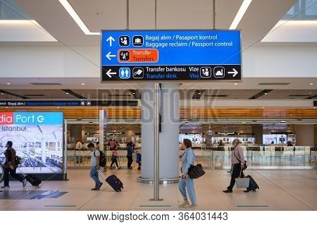 Istanbul / Turkey - September 14, 2019: Transit Zone At The New Istanbul Airport, Istanbul Havaliman