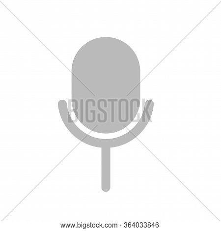 Microphone Vector Icon On Transparent Background, Microphone Icon Vector Eps 10