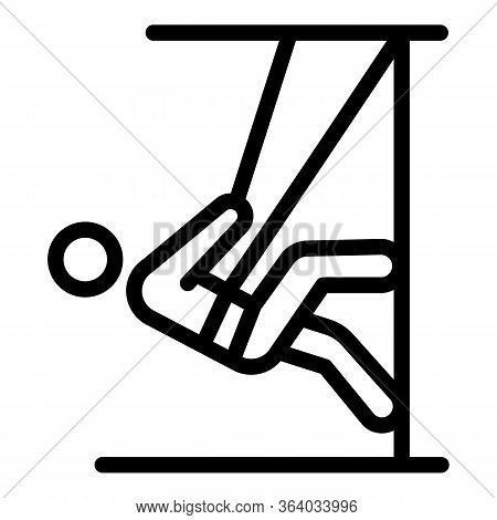 Climber In Training Icon. Outline Climber In Training Vector Icon For Web Design Isolated On White B