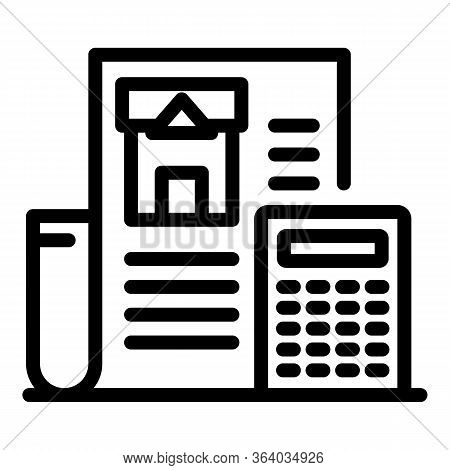 Construction Estimate Icon. Outline Construction Estimate Vector Icon For Web Design Isolated On Whi