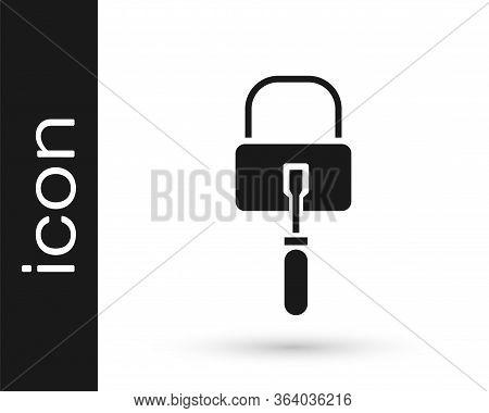 Grey Lockpicks Or Lock Picks For Lock Picking Icon Isolated On White Background. Vector Illustration