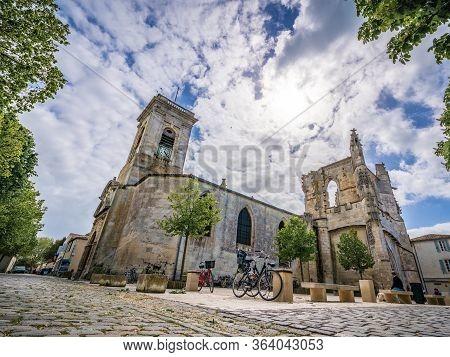 Saint-martin Church From The Ground At Saint-martin-de-ré