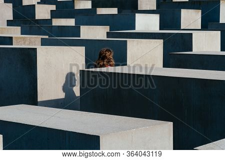 Berlin, Germany - July 28, 2019: The Memorial To The Murdered Jews Of Europe, Also Known As The Holo