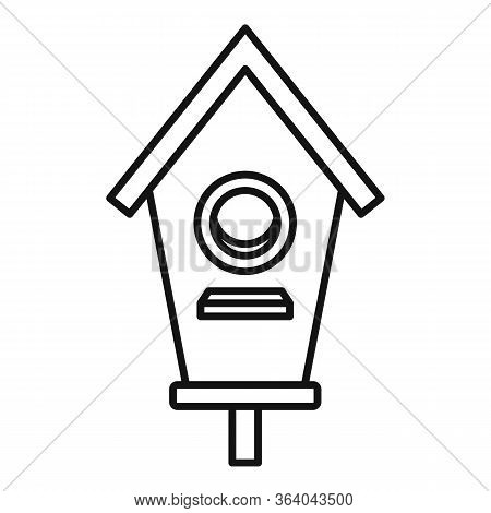 Double Bird House Icon. Outline Double Bird House Vector Icon For Web Design Isolated On White Backg