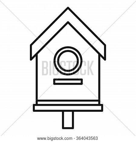 Yard Bird House Icon. Outline Yard Bird House Vector Icon For Web Design Isolated On White Backgroun