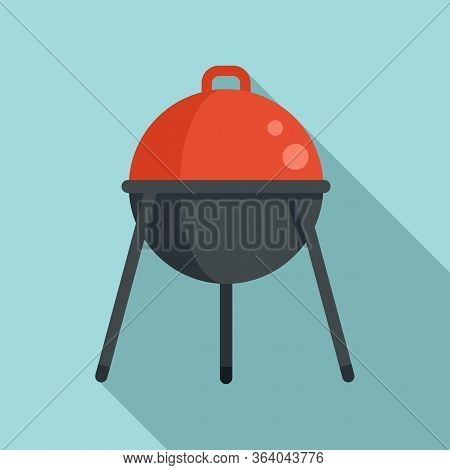 Bbq Equipment Icon. Flat Illustration Of Bbq Equipment Vector Icon For Web Design