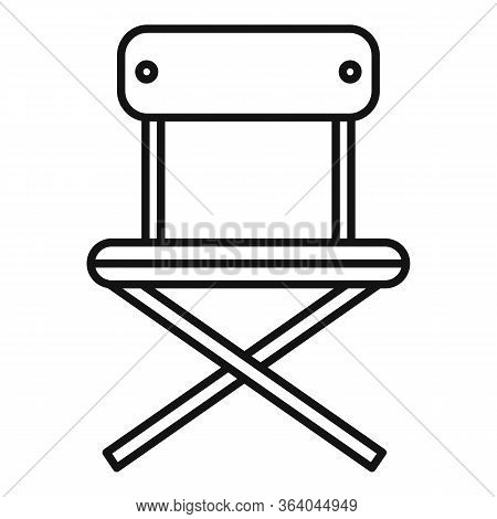 Camping Portable Chair Icon. Outline Camping Portable Chair Vector Icon For Web Design Isolated On W