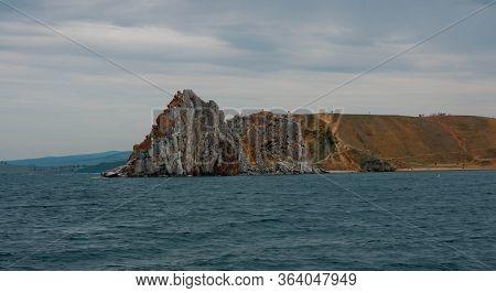 Picturesque Landscape On Lake Baikal In The Irkutsk Region, Russia