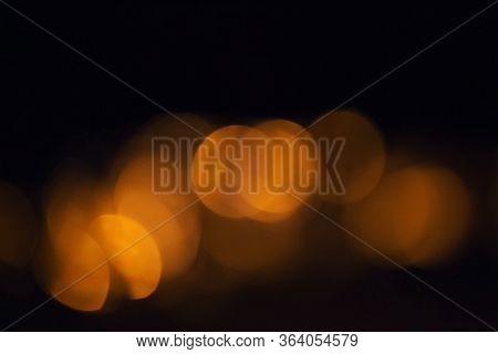 Blur Circle Orange Bokeh